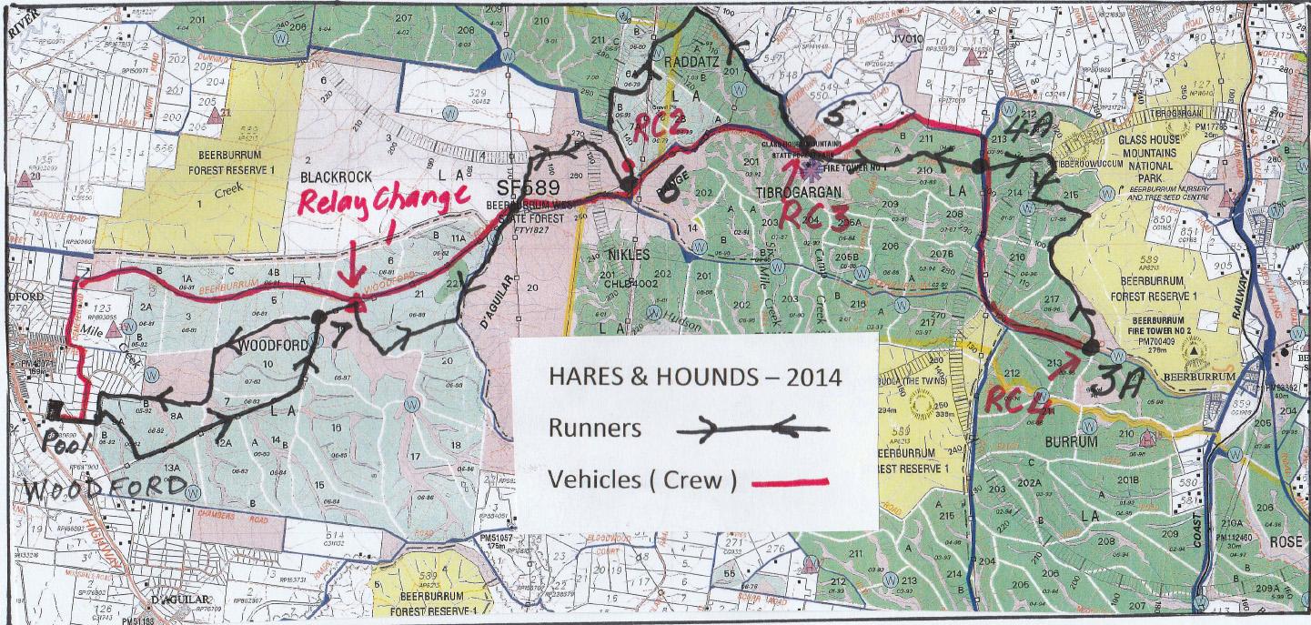 55km course Trail Running Association of Queensland