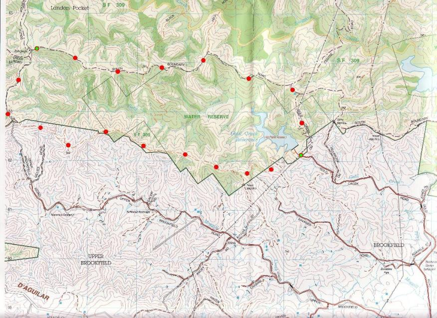 Pinnacles Map