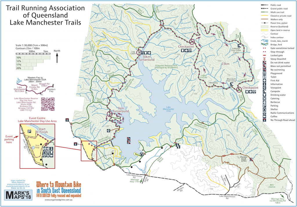 Lake Manchester Trails map