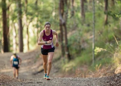 Camp Mountain Challenge runner on track
